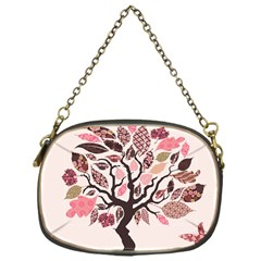 Tree Butterfly Insect Leaf Pink Chain Purses (one Side)  by Alisyart