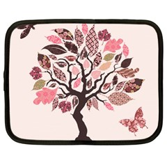 Tree Butterfly Insect Leaf Pink Netbook Case (xl)  by Alisyart