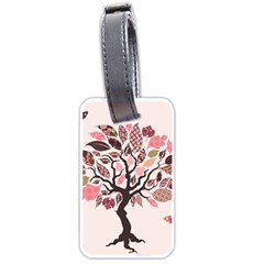 Tree Butterfly Insect Leaf Pink Luggage Tags (one Side)  by Alisyart
