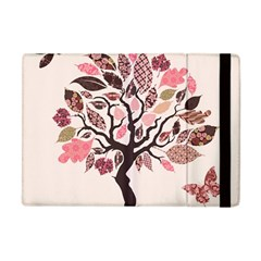 Tree Butterfly Insect Leaf Pink Apple Ipad Mini Flip Case by Alisyart