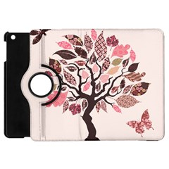 Tree Butterfly Insect Leaf Pink Apple Ipad Mini Flip 360 Case by Alisyart