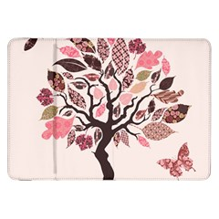 Tree Butterfly Insect Leaf Pink Samsung Galaxy Tab 8 9  P7300 Flip Case by Alisyart