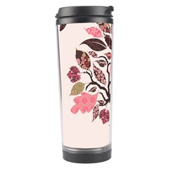 Tree Butterfly Insect Leaf Pink Travel Tumbler by Alisyart