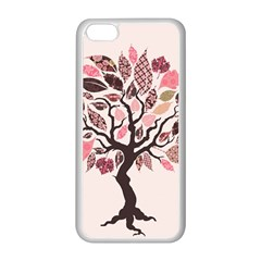 Tree Butterfly Insect Leaf Pink Apple Iphone 5c Seamless Case (white) by Alisyart