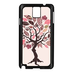 Tree Butterfly Insect Leaf Pink Samsung Galaxy Note 3 N9005 Case (black) by Alisyart