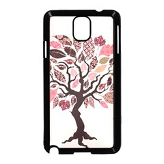 Tree Butterfly Insect Leaf Pink Samsung Galaxy Note 3 Neo Hardshell Case (black) by Alisyart
