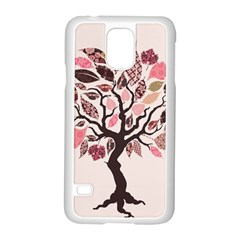 Tree Butterfly Insect Leaf Pink Samsung Galaxy S5 Case (white)