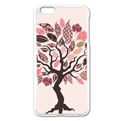 Tree Butterfly Insect Leaf Pink Apple Iphone 6 Plus/6s Plus Enamel White Case by Alisyart