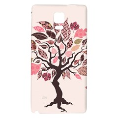 Tree Butterfly Insect Leaf Pink Galaxy Note 4 Back Case
