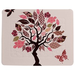 Tree Butterfly Insect Leaf Pink Jigsaw Puzzle Photo Stand (rectangular) by Alisyart