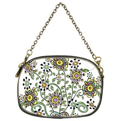 Frame Flower Floral Sun Purple Yellow Green Chain Purses (one Side)  by Alisyart
