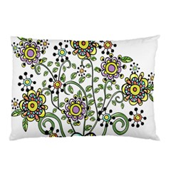 Frame Flower Floral Sun Purple Yellow Green Pillow Case (two Sides) by Alisyart