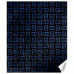 Woven1 Black Marble & Blue Stone Canvas 20  X 24  by trendistuff