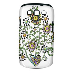 Frame Flower Floral Sun Purple Yellow Green Samsung Galaxy S Iii Classic Hardshell Case (pc+silicone) by Alisyart
