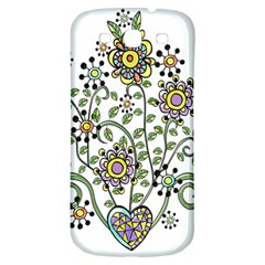 Frame Flower Floral Sun Purple Yellow Green Samsung Galaxy S3 S Iii Classic Hardshell Back Case by Alisyart