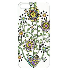 Frame Flower Floral Sun Purple Yellow Green Apple Iphone 5 Hardshell Case With Stand by Alisyart