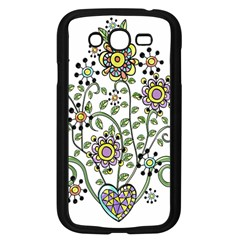 Frame Flower Floral Sun Purple Yellow Green Samsung Galaxy Grand Duos I9082 Case (black) by Alisyart