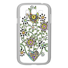 Frame Flower Floral Sun Purple Yellow Green Samsung Galaxy Grand Duos I9082 Case (white) by Alisyart