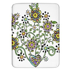 Frame Flower Floral Sun Purple Yellow Green Samsung Galaxy Tab 3 (10 1 ) P5200 Hardshell Case  by Alisyart