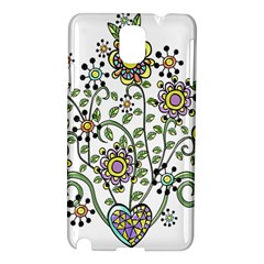 Frame Flower Floral Sun Purple Yellow Green Samsung Galaxy Note 3 N9005 Hardshell Case by Alisyart