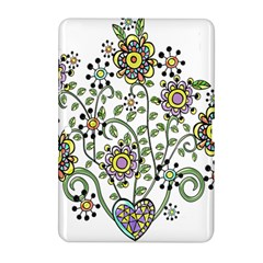 Frame Flower Floral Sun Purple Yellow Green Samsung Galaxy Tab 2 (10 1 ) P5100 Hardshell Case  by Alisyart