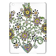 Frame Flower Floral Sun Purple Yellow Green Ipad Air Hardshell Cases by Alisyart