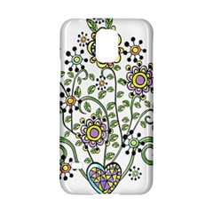 Frame Flower Floral Sun Purple Yellow Green Samsung Galaxy S5 Hardshell Case  by Alisyart