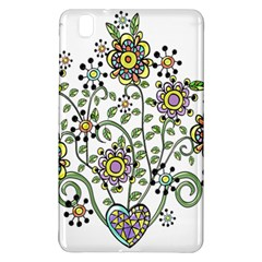 Frame Flower Floral Sun Purple Yellow Green Samsung Galaxy Tab Pro 8 4 Hardshell Case by Alisyart