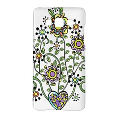 Frame Flower Floral Sun Purple Yellow Green Samsung Galaxy A5 Hardshell Case  by Alisyart