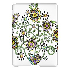 Frame Flower Floral Sun Purple Yellow Green Samsung Galaxy Tab S (10 5 ) Hardshell Case  by Alisyart