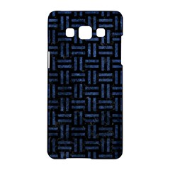 Woven1 Black Marble & Blue Stone Samsung Galaxy A5 Hardshell Case  by trendistuff
