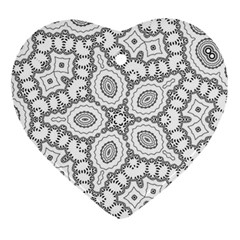 Scope Random Black White Ornament (heart) by Alisyart