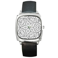 Scope Random Black White Square Metal Watch