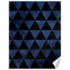 Triangle3 Black Marble & Blue Stone Canvas 18  X 24  by trendistuff
