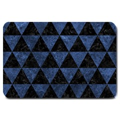 Triangle3 Black Marble & Blue Stone Large Doormat by trendistuff