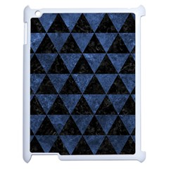 Triangle3 Black Marble & Blue Stone Apple Ipad 2 Case (white) by trendistuff