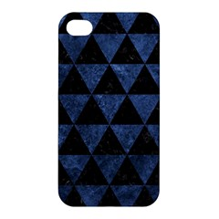 Triangle3 Black Marble & Blue Stone Apple Iphone 4/4s Premium Hardshell Case by trendistuff
