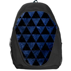 Triangle3 Black Marble & Blue Stone Backpack Bag by trendistuff