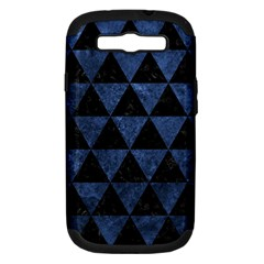 Triangle3 Black Marble & Blue Stone Samsung Galaxy S Iii Hardshell Case (pc+silicone) by trendistuff