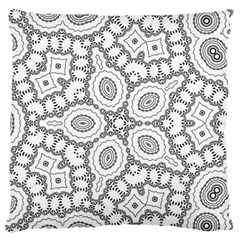 Scope Random Black White Large Flano Cushion Case (two Sides) by Alisyart