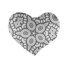 Scope Random Black White Standard 16  Premium Flano Heart Shape Cushions