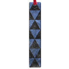 Triangle3 Black Marble & Blue Stone Large Book Mark by trendistuff