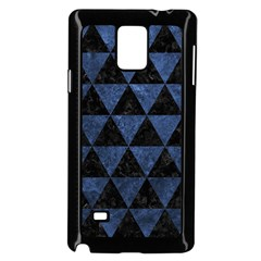 Triangle3 Black Marble & Blue Stone Samsung Galaxy Note 4 Case (black) by trendistuff