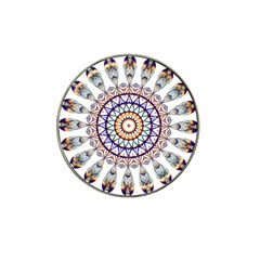 Circle Star Rainbow Color Blue Gold Prismatic Mandala Line Art Hat Clip Ball Marker (4 Pack) by Alisyart
