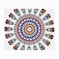 Circle Star Rainbow Color Blue Gold Prismatic Mandala Line Art Small Glasses Cloth (2 Side)
