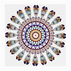 Circle Star Rainbow Color Blue Gold Prismatic Mandala Line Art Medium Glasses Cloth (2 Side)