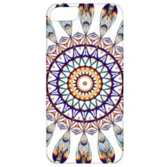 Circle Star Rainbow Color Blue Gold Prismatic Mandala Line Art Apple Iphone 5 Classic Hardshell Case