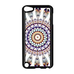 Circle Star Rainbow Color Blue Gold Prismatic Mandala Line Art Apple Ipod Touch 5 Case (black) by Alisyart