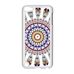 Circle Star Rainbow Color Blue Gold Prismatic Mandala Line Art Apple Ipod Touch 5 Case (white)