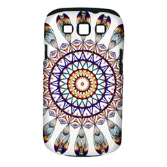 Circle Star Rainbow Color Blue Gold Prismatic Mandala Line Art Samsung Galaxy S Iii Classic Hardshell Case (pc+silicone)